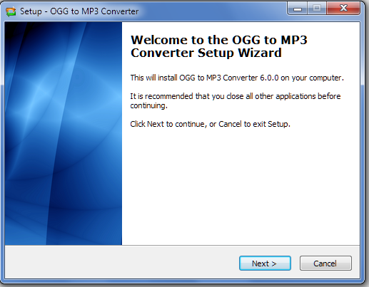 Install OGG to MP3 Converter